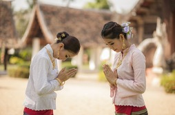 Two-Thai-Women-Pay-Respect-Thailand-164358218